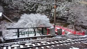 2014初雪・極楽橋駅
