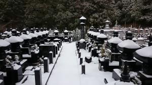 2014初雪・佛舎利宝塔