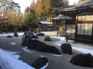 高野山金剛峯寺の雪